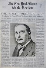 H G WELLS HOLY TERROR DICTATOR - T S ELLIOT 4-1939 April 9 MEXICO HISTORY PARKES