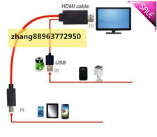 MHL Micro USB 5-Pin to HDMI TV Adapter Cable For HTC One M8、Max、S、X、X+、XL,Flyer