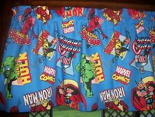 Marvel Comics Spiderman Superman Hulk Thor Iron Man movie fabric curtain Valance