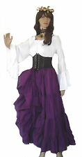 WHITE CHEMISE BLOUSE SHIRT TOP RENAISSANCE MEDIEVAL STEAMPUNK PIRATE WENCH S/XL