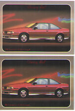 1988 Chevy Cavalier Z-24 Baseball Card Sized Cards - lot of 2 - Must See !!
