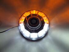 12V LED Flashing Strobe Recovery Lightbar Light Amber/White Beacon Van Magnetic