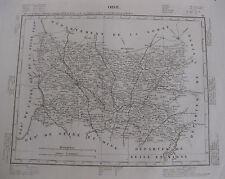 1835 Carte Atlas Géographique France Département de Oise Picardie Beauvais