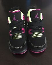 New Jordan 4 Retro GT  Black / Fuschia  Baby Girl US Size 5C