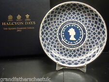 COMMEMORATIVE PLATE HALCYON DAYS THE QUEENS DIAMOND JUBILEE 2012 BRITISH ISLES