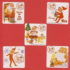 15 Elf on the Shelf - Santa - Christmas - Large Stickers - Party Favors