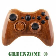 Wood Grain Custom Replacement Xbox 360 Controller Shell + Buttons Mod Kit