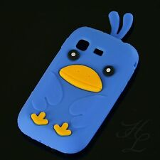 Samsung Galaxy Pocket S5300 Soft Silikon Case Schutz Hülle Etui Chicken Blau 3D