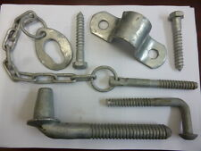 RAZOR WIRE FENCING RURAL FARM GATE FITTING HINGE SET KIT & POST LOCK CHAIN