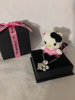 Hello Kitty Momoberry Sanrio Sterling Silver Necklace Plush Charm RARE