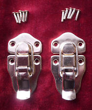 2 Guitar/Instrument Case Latches-Large 2 hole top-GOLD-for Martin & USA Brands