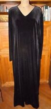 WORTHINGTON LUSH BLACK STRETCH VELVET FULL-LENGTH DRESS , SZ 16, FLAWLESS