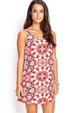 NWT New Forever 21 Contemporary Tribal Print Trapeze Dress Extra Small XS