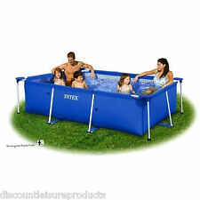 Intex 2.6m x 1.6m x 0.65m Rectangle Family Frame Swimming Pool - 28271