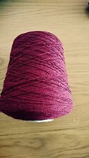 20%Cashmere80%Lambs wool Yarn In Burgundy 500g Cone .2ply machine Knit.Uk Spun.