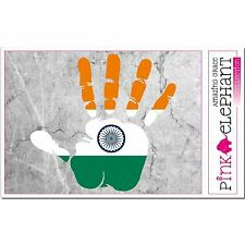 Indien - Hand Palm Finger Print Aufkleber Flag Sticker Motiv India Indian Punjab