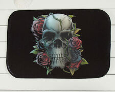 Home Decoration Skull Rose Rug Carpet Bedroom/Bathroom Floor Mat 40*60cm L