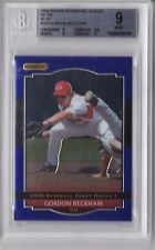 2008 Razor Signature Metal Gordon Beckham Rookie Graded BGS 9