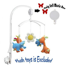 Baby Kids Crib Mobile Bed Bell Toy Rotary Wind-up Music Box Educational Toy New