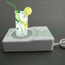 Mini USB Warmer Cooler Beverage Drinks Fridge Chiller Cup Coaster for Laptop CI