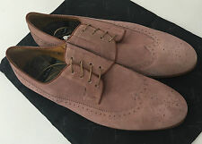 Paul Smith Brogues DUSKY PINK Suede Leather Wing-Tip Size UK 10 EU 44