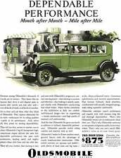 Oldsmobile 1929 - Oldsmobile Ad - Dependable Performance Month after Month - Mil