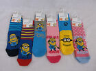 Despicable Me Minion Socks Boys Minion Socks Girls Minion Socks Character Socks