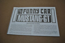 AMT 1/25 1965 FORD MUSTANG GT 427 FUNNY CAR COMPLETE INSTRUCTIONS GUIDE!