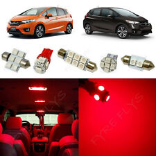 6x Red LED lights interior package kit for 2015 & Up Honda Fit HF2R