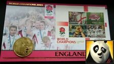 2003 AUSTRALIA $5 DOLLARS England Rugby World Champions Coin Cover + COA