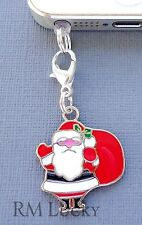 Santa Claus cell phone Charm Anti Dust proof Plug ear cap jack For iPhone C128