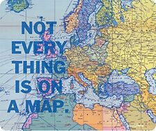 Not Everything Is On A Map World Globe Thick Mousepad by Atomic Market
