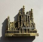 Tourist Souvenir 3D Resin Fridge Magnet - Barcelona Sagrada Familia , Spain