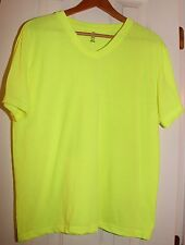 Imagin8 Solid Bright Yellow Ladies V-Neck T-Shirt Top Large L/G - Excellent