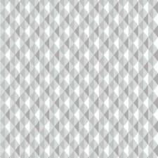 RASCH HARLEQUIN TRIANGLE STRIPE PATTERN KITCHEN BATHROOM VINYL WALLPAPER SILVER