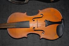 Beautiful Antique French Violin with label MANSUY in Wooden Case