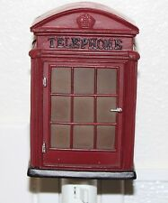 London Phone Booth Retro Nightlight Lamp Candle Home Decor Souvenir Gifts