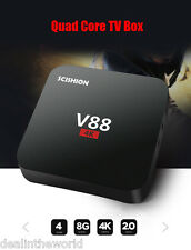 SCISHION V88 Android TV Box Rockchip 3229 Quad Core 4K H.265 1GB/8GB Mini PC UK