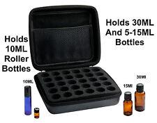 Essential Oil Carrying Case (30 Bottle) Holds 5-10-15-30ML & 10Ml Rollon Bottles