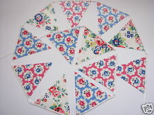 CATH KIDSTON OILCLOTH FABRIC BUNTING Provence Rose Pink, Large Spray Flowers NEW