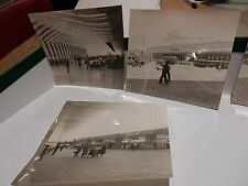 ROME RAILWAY STATION X4 OLD PHOTOGRAPH ORIGINAL VINTAGE ITEM B/W 9X8 cm approx