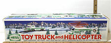 1995 Hess Toy Truck & Helicopter w/ Operating Rotors & Lights Amerada Gas NIB A+