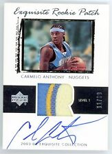 Carmelo Anthony 2003-04 Upper Deck Exquisite Rookie Patch Autograph RC 11/99