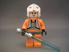 Lego Figurine Minifig Star Wars - Luke Skywalker pilot Neuf New / Set 10178