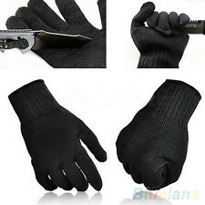 Fashion Black Protect Stainless Steel Wire Safety Cut Metal Mesh Butcher Gloves