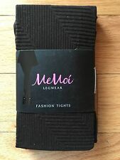 MeMoi MFO-636 Dark Brown Espresso Retro Active Fashion Tights Size S/M NWT $18