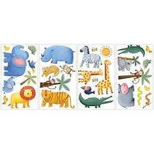 SAFARI JUNGLE animal wall stickers Rainforest 29 decals monkey elephant lion zoo