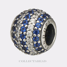 Authentic Pandora Sterling Silver Blue Nautical Pave Lights Bead 791172NCB
