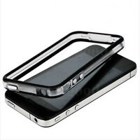 Black-Clear Bumper Frame TPU Silicone Case 4 iPhone 4S CDMA 4G W/Side Button