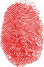 Finger Print Vinyl Wall Car Decal Sticker, BIG or SMALL, Highest Quality